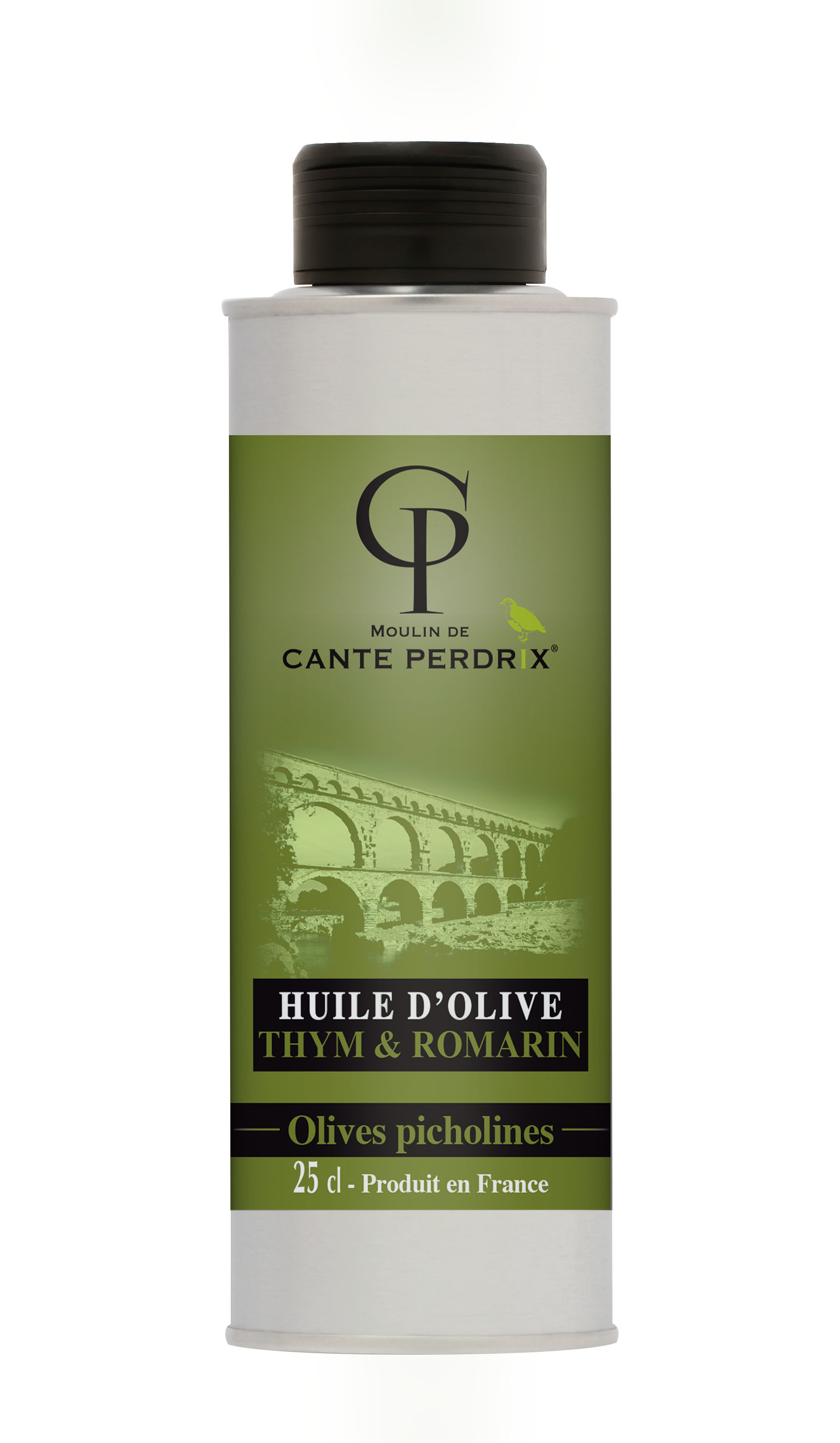 Huile d'olive vierge Thym et Romarin 25 cl
