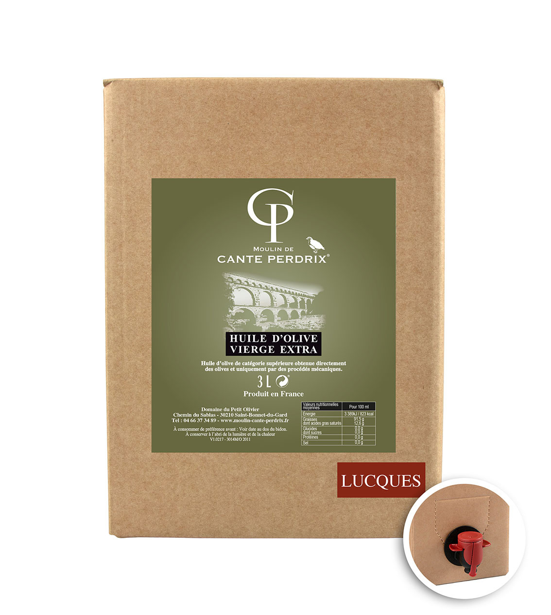 Bag in Box 3L - Huile d'olive vierge La Douce (La Lucques)